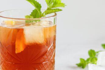 home made shaken ice tea van blend tea