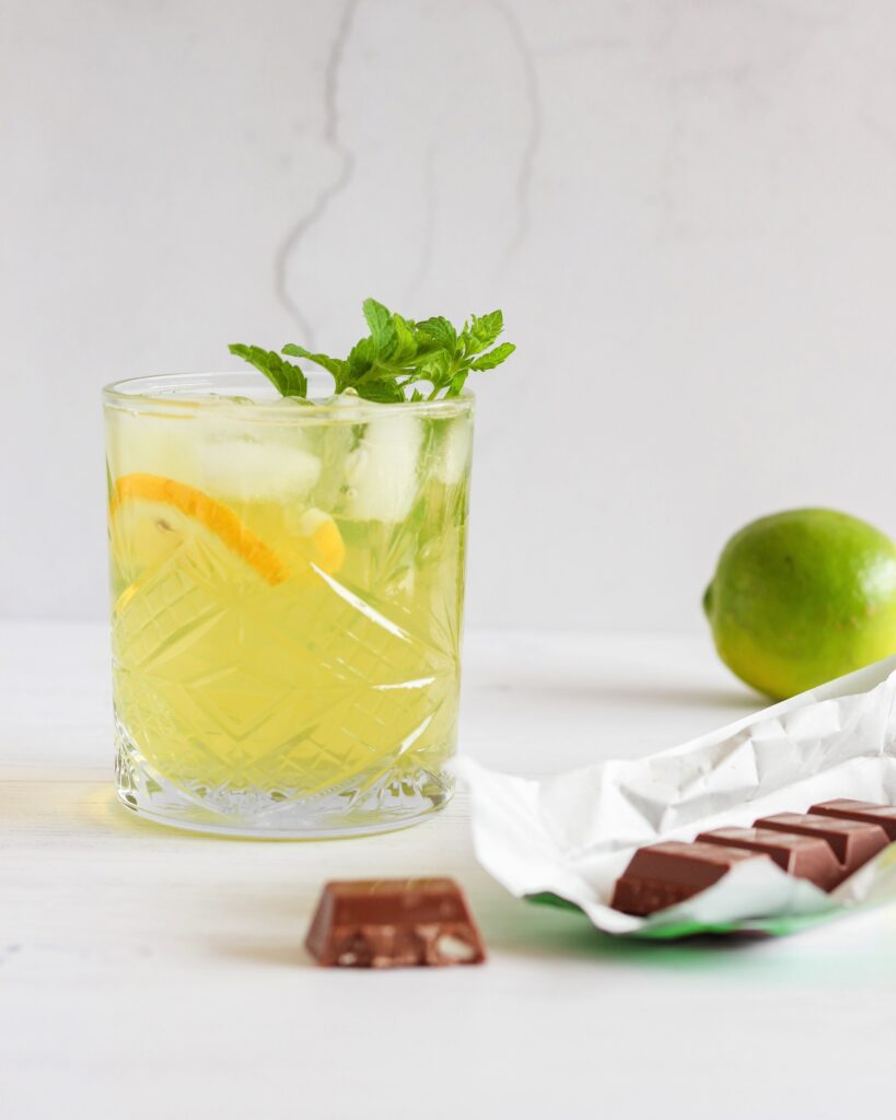 ice tea green lime homemade