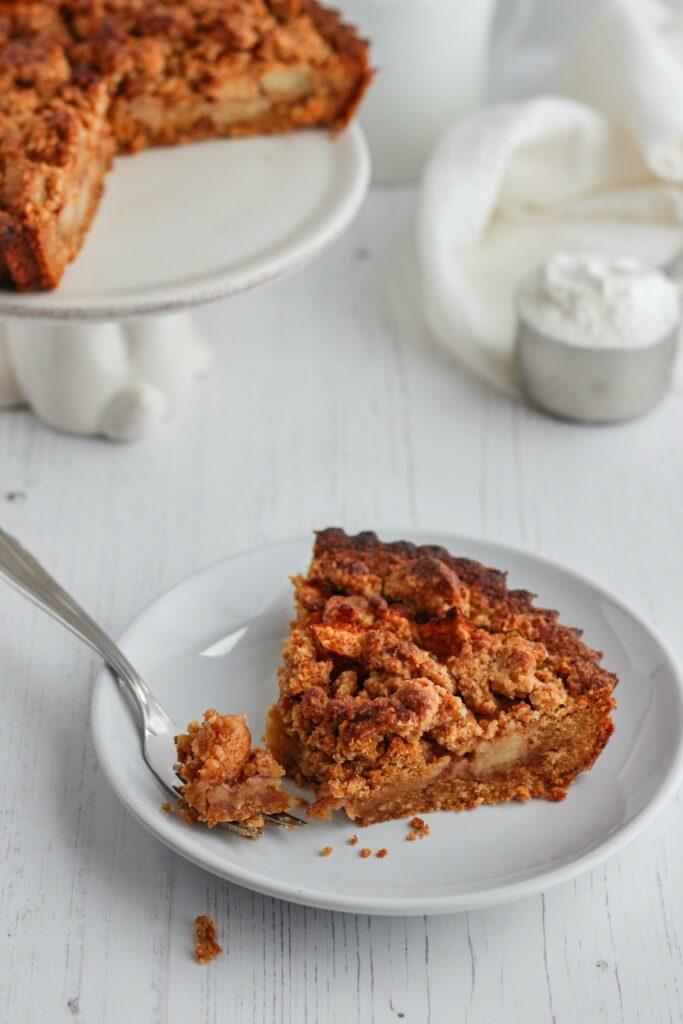 glutenvrije en eenvoudige appeltaart
