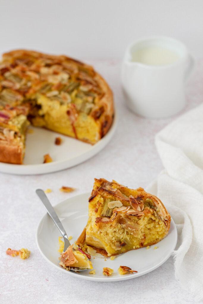 recept voor rabarber taart met bladerdeegbodem