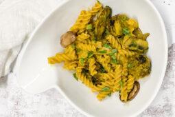 Vegetarische pasta met pompoensaus – recept